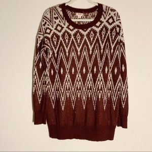 Mossimo Indian Print Sweater